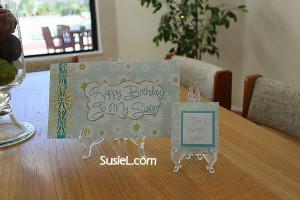 Birthday card & matching tea bag!