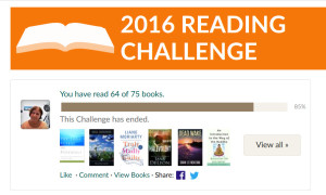 2016 Goodreads reading challenge